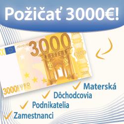 Požičať 3000€!