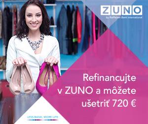 Refinancujte v ZUNO a môžete ušetriť 720 €!